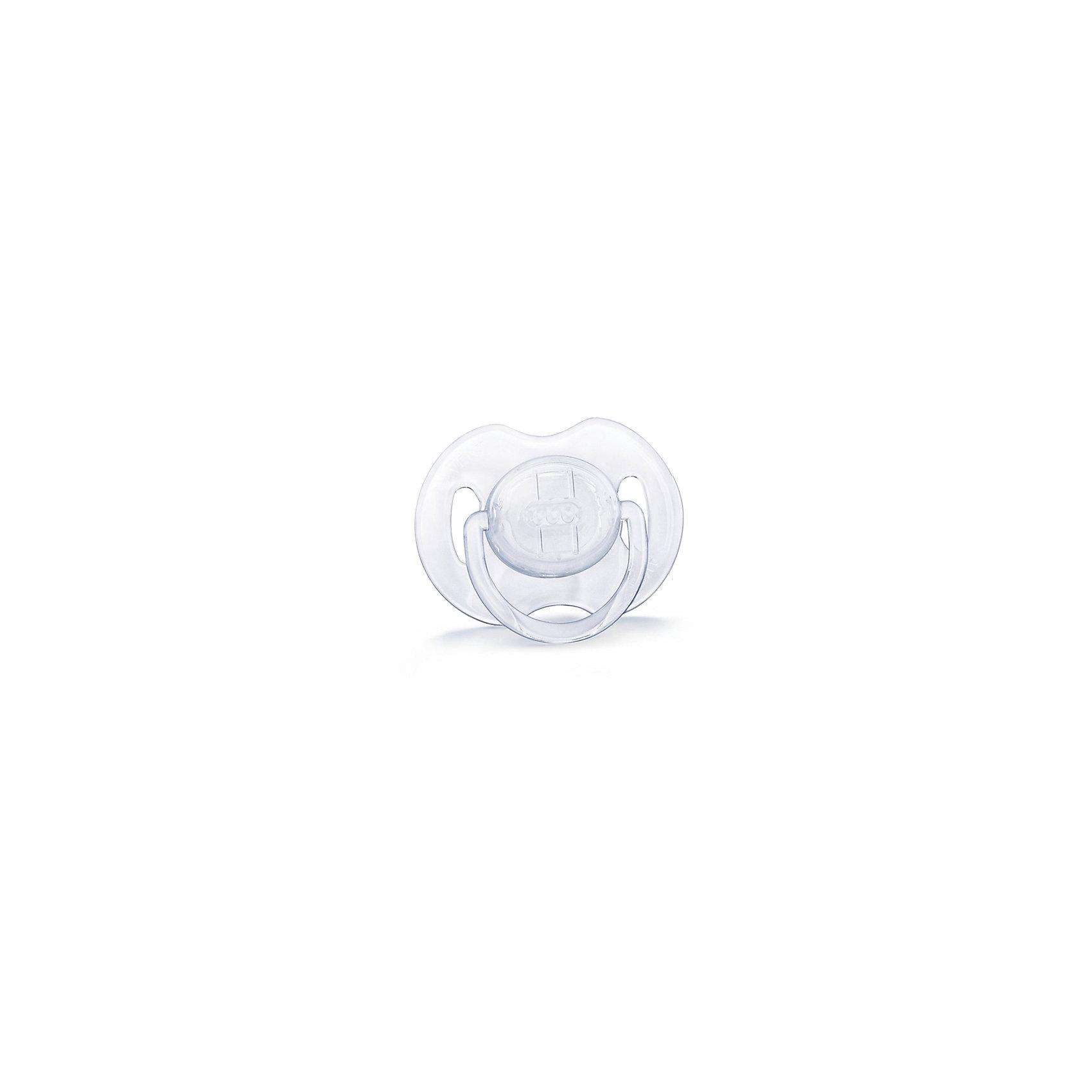 PHILIPS AVENT Силиконовая пустышка Классика, 0-6 мес., 2 шт., AVENT, белый