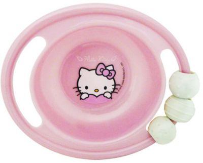 Миска-погремушка с резинкой против скольжения, Hello Kitty
