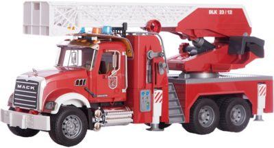 Пожарная машина MACK с выдвижной лестницей и помпой, Bruder, артикул:3361298 - Игрушки для мальчиков