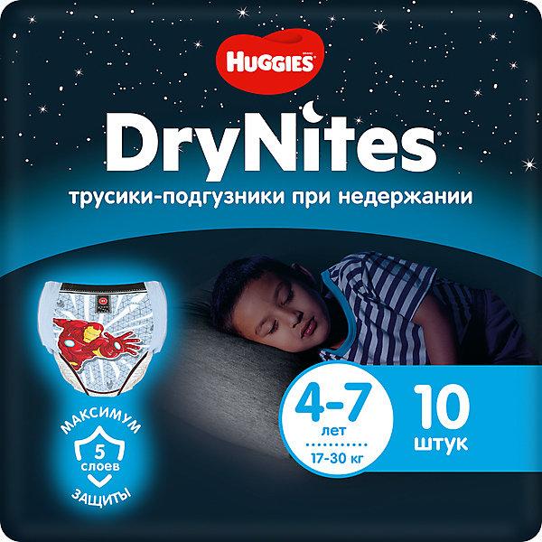 HUGGIES Трусики Huggies DryNites для мальчиков 4-7 лет, 17-30 кг, 10 шт.