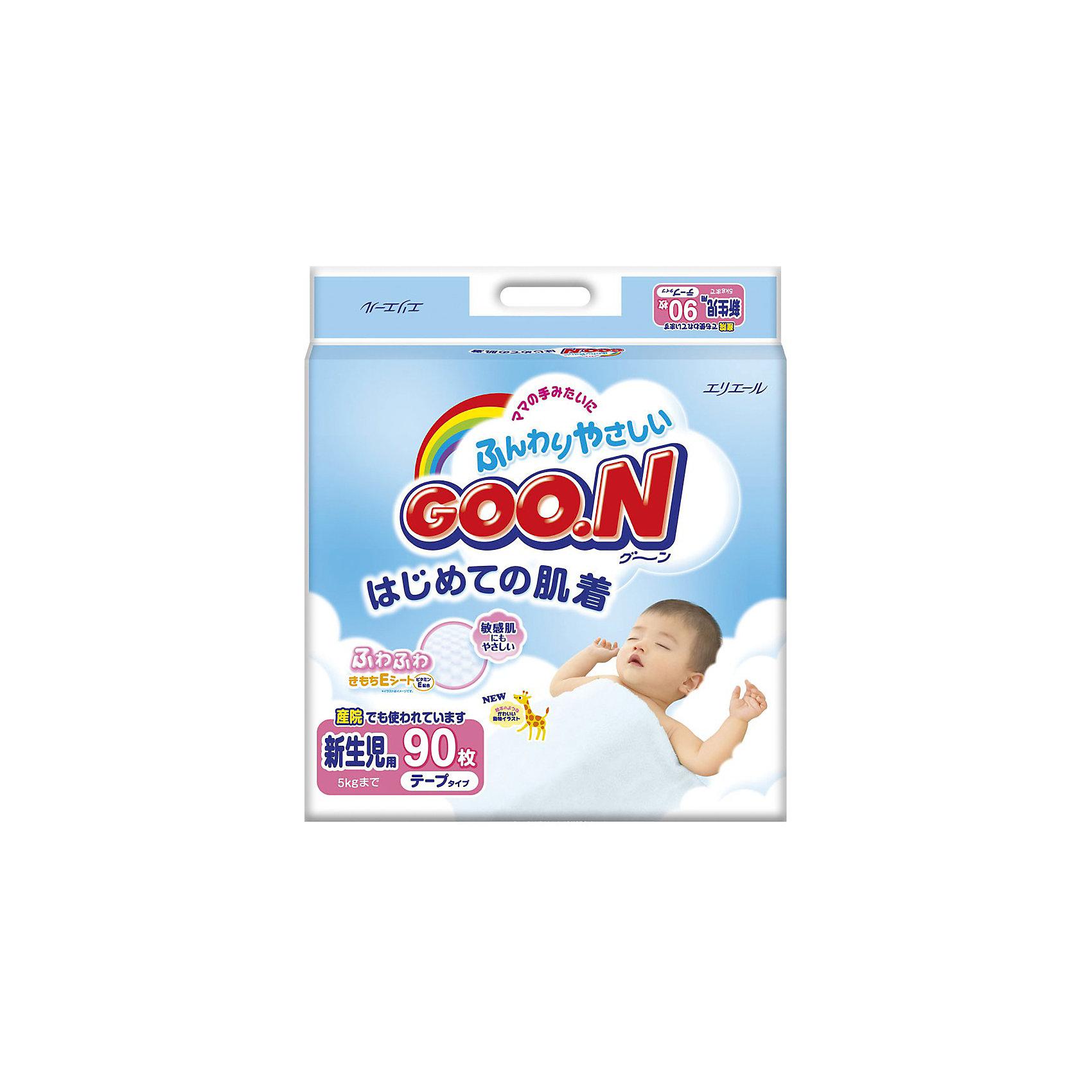 Подгузники Goon, NB до 5 кг, 90 шт.