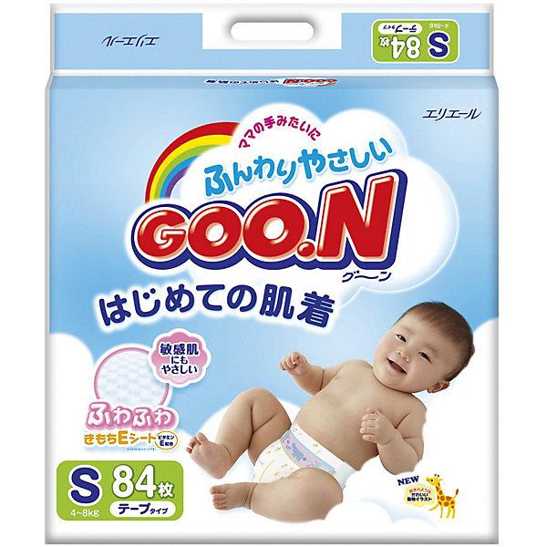 Goon Подгузники Goon, S 4-8 кг, 84 шт. подгузники goon s 4 8 кг 84шт