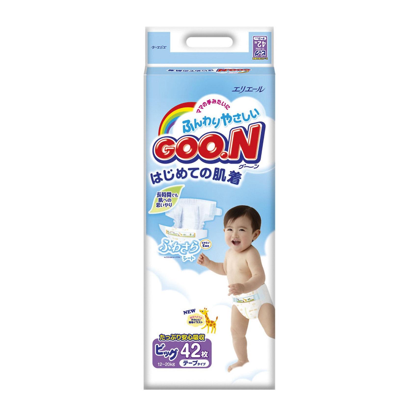 Подгузники Goon, XL 12-20 кг, 42 шт.