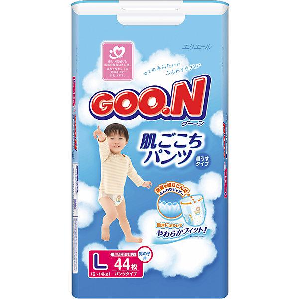 Goon Подгузники-трусики Goon, L 9-14 кг, для мальчиков, 44 шт. трусики подгузники goon xxl 13 25кг 28 шт