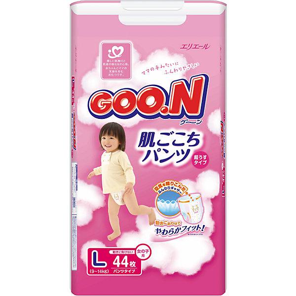 Goon Подгузники-трусики Goon, L 9-14 кг, для девочек, 44 шт. белые трусики abby l