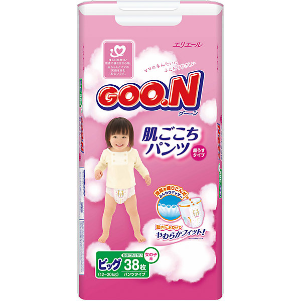 Goon Подгузники-трусики Goon, XL 12-20 кг, для девочек, 38 шт. цена