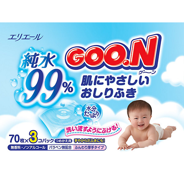 Goon Влажные детские салфетки Goon, 3 х 70 шт. 30 speeds anal plug vibrator prostate massage butt anal vibrating male masturbator erotic toys adult sex toys for men