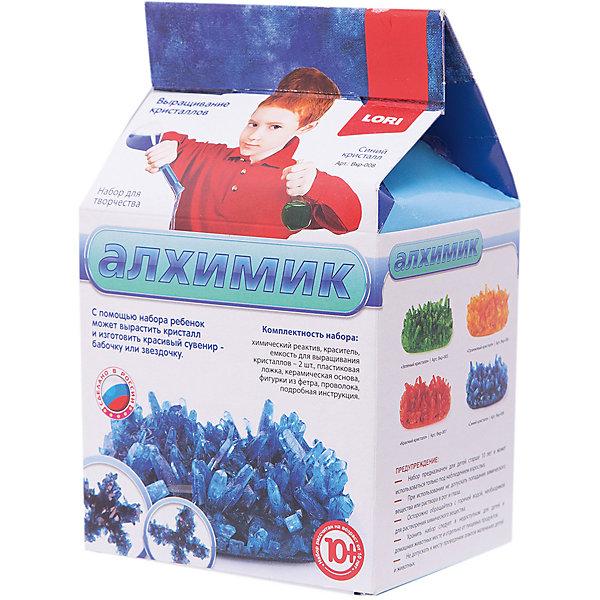 Выращивание кристаллов Синий кристалл, LORIВыращивание кристаллов<br>Выращивание кристаллов Синий кристалл, LORI станет самым интересным занятием для Вашего малыша!<br>Выращивание кристаллов - самый массовый и самый популярный вид химических опытов для детей. С помощью данных наборов можно вырастить друзу  кристаллов зеленого, оранжевого, красного и синего цвета, а так же вырастить красивый цветной кристаллический сувенир - бабочку или звездочку, с помощью кусочка фетра, который вложен в набор. Суть выращивания в наблюдении кристаллизации вещества из насыщенного соляного раствора.<br><br>Дополнительная информация:<br><br>Размер: 190х110х90 мм.<br><br>Вес: 295 г.<br><br>Станет прекрасным развивающим подарком Вашему малышу!<br>Легко купить в нашем интернет-магазине!<br>Ширина мм: 190; Глубина мм: 110; Высота мм: 90; Вес г: 295; Возраст от месяцев: 120; Возраст до месяцев: 180; Пол: Унисекс; Возраст: Детский; SKU: 3376769;