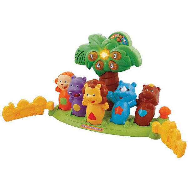 Развивающая игрушка Боулинг с животными Африки, со светом и звуком, VtechИнтерактивные игрушки для малышей<br>Развивающая игрушка Боулинг с животными Африки, со светом и звуком, Vtech - интерактивная игрушка, которая станет отличным подарком для Вашего ребенка.<br><br>Сбей шаром всех животных и заработай очки! Сбивая шаром кегли в виде животных Африки, ребёнок не только разовьёт мелкую моторику и двигательную активность, но и выучит названия животных, цифры, цвета.  Кроме того, игра сопровождается веселыми фразами, которые не дадут заскучать маленьким непоседам. <br><br>Дополнительная информация:<br><br>- В комплекте: боулинг, шар и 5 кеглей в виде животных.<br>- Свет и звук (музыка, фразы).<br>- Озвучивание: профессиональное (одноголосое).<br>- Песня Чунга-чанга из мф катерок. <br>- Режимы: учим названия животных, учим цифры, учимся считать, играя в боулинг. <br>-Кнопки с цифрами светятся, если выбить шаром кегли. <br>- Материал: пластик.<br>- Размеры упаковки: 13х46х33 см.<br><br>Развивающую игрушку Боулинг с животными Африки можно купить в нашем интернет-магазине.<br>Ширина мм: 130; Глубина мм: 460; Высота мм: 330; Вес г: 2050; Возраст от месяцев: 18; Возраст до месяцев: 48; Пол: Унисекс; Возраст: Детский; SKU: 3380332;