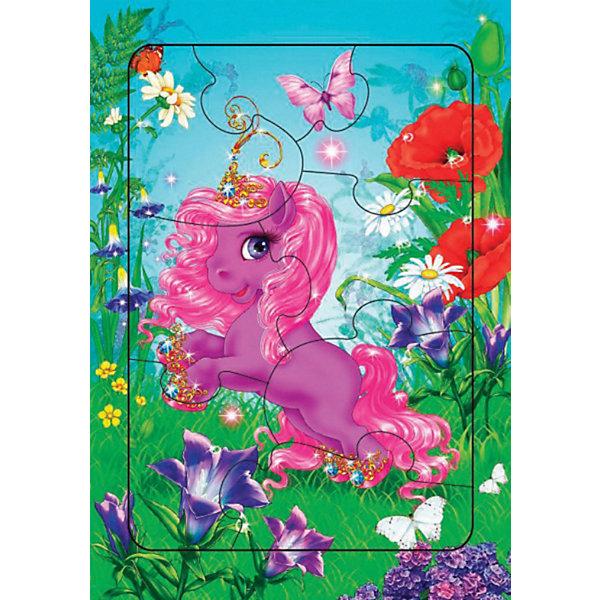 Дрофа-Медиа Пазл с рамкой Лошадка - Принцесса, 8 деталей, Дрофа-Медиа дрофа медиа пазл для малышей репка 8 в 1