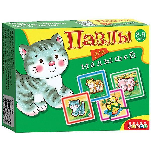 Дрофа-Медиа Набор пазлов 4в1 Играй и собирай Животные