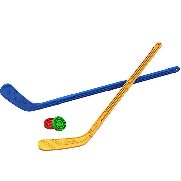 Набор Юный хоккеист (2 клюшки + 2 шайбы), NORDPLAST, Нордпласт, Россия, Мужской  - купить со скидкой