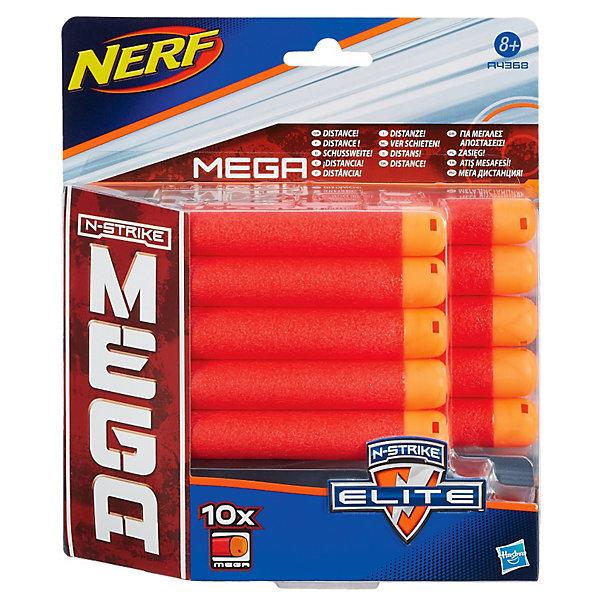 Hasbro Комплект 10 стрел для бластеров МЕГА, NERF hasbro комплект 10 стрел для бластеров мега nerf