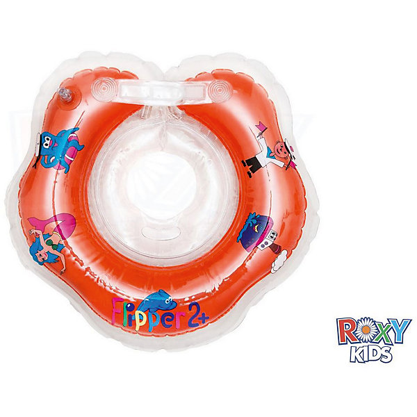 Roxy-Kids Надувной круг на шею Flipper 2+ для купания малышей, Roxy-Kids