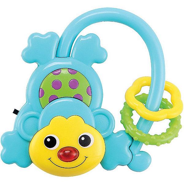 Музыкальная игрушка Обезьянка MONKUS Happy BabyИнтерактивные игрушки для малышей<br>Музыкальная обезьянка MONKUS<br><br>Развивает: координацию движений; слуховое, тактильное и зрительное восприятие; познавательный интерес; тактильные ощущения.<br><br>Характеристики: зеркальная поверхность на животике; звуковой эффект; при нажатии на кнопку загорается лампочка.<br><br>Дополнительная информация:<br><br>Материал: АБС-пластик, термопластичная резина.<br>Батарейки в комплекте.<br><br>Музыкальная игрушка Обезьянка MONKUS Happy Baby можно купить в нашем интернет-магазине.<br>Ширина мм: 180; Глубина мм: 125; Высота мм: 20; Вес г: 70; Возраст от месяцев: 3; Возраст до месяцев: 36; Пол: Унисекс; Возраст: Детский; SKU: 3408929;