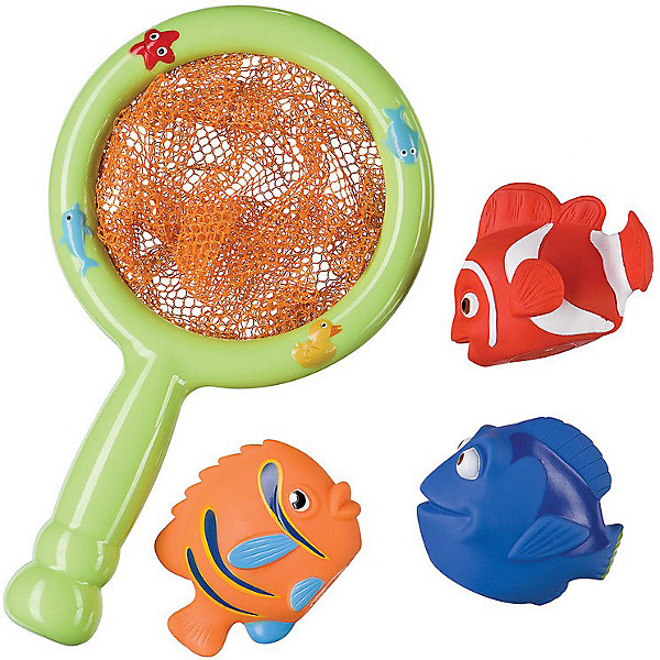 Happy Baby Набор ПВХ-игрушек для ванной Веселая рыбалка LITTLE FISHER Happy Baby игровой набор happy baby little fisher для ванной