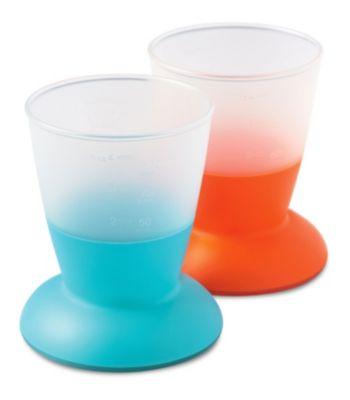Комплект из 2 кружек BabyBjorn, голубой/оранжевый, артикул:3468340 - Кормление малыша