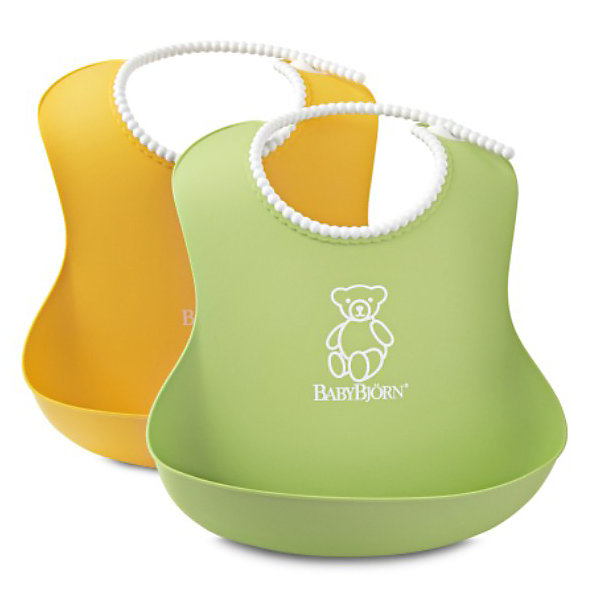BabyBjorn Комплект из 2 нагрудников BabyBjorn, жёлтый/зеленый babybjorn рубашка для кормления цвет зеленый