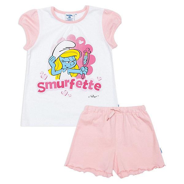 Пижама для девочки PlayToday, Розовый/белый