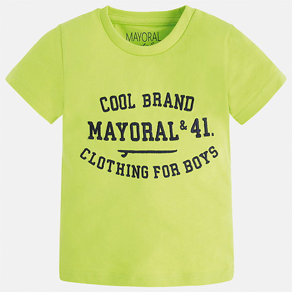 Футболка для мальчика MayoralФутболки, поло и топы<br>Характеристики товара:<br><br>• цвет: красный<br>• состав: 100% хлопок<br>• круглый горловой вырез<br>• принт впереди<br>• короткие рукава<br>• страна бренда: Испания<br><br>Стильная футболка с принтом поможет разнообразить гардероб мальчика. Она отлично сочетается с брюками, шортами, джинсами и т.д. Универсальный крой и цвет позволяет подобрать к вещи низ разных расцветок. Практичное и стильное изделие! В составе материала - только натуральный хлопок, гипоаллергенный, приятный на ощупь, дышащий.<br><br>Одежда, обувь и аксессуары от испанского бренда Mayoral полюбились детям и взрослым по всему миру. Модели этой марки - стильные и удобные. Для их производства используются только безопасные, качественные материалы и фурнитура. Порадуйте ребенка модными и красивыми вещами от Mayoral! <br><br>Футболку для мальчика от испанского бренда Mayoral (Майорал) можно купить в нашем интернет-магазине.<br>Ширина мм: 199; Глубина мм: 10; Высота мм: 161; Вес г: 151; Цвет: красный; Возраст от месяцев: 84; Возраст до месяцев: 96; Пол: Мужской; Возраст: Детский; Размер: 128,98,104,110,116,122,134,92; SKU: 3516075;