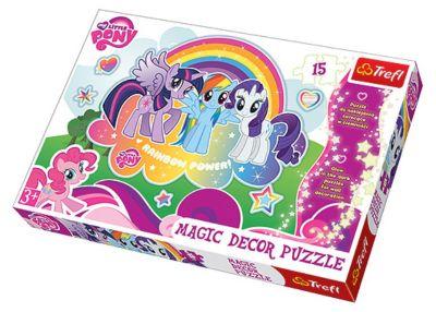 Пазл  Мои маленькие пони , 15 светящихся деталей, Trefl, артикул:3522855 - My little Pony