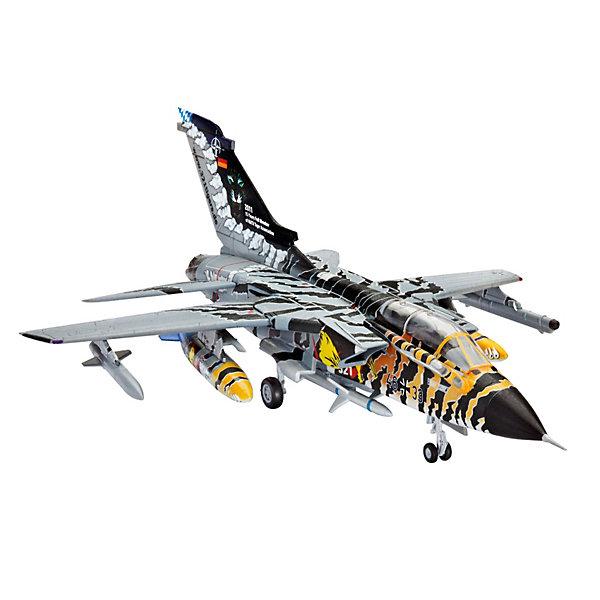 Набор Самолет Разведчик-Бомбардировщик «Торнадо» ECR Tigermeet 2011Самолеты и вертолеты<br>Характеристики товара:<br><br>• возраст: от 10 лет;<br>• цвет: белый;<br>• масштаб: 1:144;<br>• количество деталей: 63 шт;<br>• материал: пластик; <br>• клей и краски в комплект не входят;<br>• длина модели: 11,8 см;<br>• размах крыльев: 8,5 см;<br>• бренд, страна бренда: Revell (Ревел), Германия;<br>• страна-изготовитель: Корея.<br><br>Набор для сборки «Самолет Разведчик-Бомбардировщик «Торнадо» ECR Tigermeet 2011» поможет вам и вашему ребеноку собрать уменьшенную копию одноименного немецкого самолета и раскрасить ее. <br><br>Принятый на вооружение в 1980 году Tornado IDS до сих пор состоит на вооружении ВВС европейских стран. Является одним из основных самолетов НАТО. Активно применялся во время войн в Ираке и Югославии. За годы производства было построено 992 экземпляра.<br><br>В комплект набора для склеивания и раскрашивания входит: 63 пластиковых детали, кисточка, краски 3-ех цветов и клей. А также подробная иллюстрирована инструкция.<br><br>Моделирование — это очень увлекательное и полезное занятие, которое по достоинству оценят не только дети, но и взрослые, увлекающиеся военной техникой. Сборка моделей поможет ребенку развить воображение, мелкую моторику ручек и логическое мышление.<br><br>Набор для сборки «Самолет Разведчик-Бомбардировщик «Торнадо» ECR Tigermeet 2011», 63 дет., Revell (Ревел) можно купить в нашем интернет-магазине.<br>Ширина мм: 269; Глубина мм: 230; Высота мм: 38; Вес г: 197; Возраст от месяцев: 120; Возраст до месяцев: 180; Пол: Мужской; Возраст: Детский; SKU: 3522890;