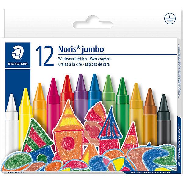 Мелки восковые NorisClub, d = 11 мм, 12 цветов, StaedtlerМасляные и восковые мелки<br>Замечательный набор восковых мелков NorisClub от Staedtler идеально подойдет для творчества детей любого возраста. Восковые мелки NorisClub с высоким содержанием<br>натурального пчелиного воска удобно держать в руках, отличаются насыщенными яркими цветами, мягкостью и плавностью при рисовании. Мелки обернуты в защитный бумажный рукав, водонепроницаемые и  ударопрочные. Рисование возможно на белой, цветной и даже на черной бумаге.<br><br>Дополнительная информация:<br><br>- В комплекте: 12 цветов.<br>- Диаметр мелков: 11 мм.<br>- Размер упаковки: 12,5 x 13,8 x 1,2 см.<br>- Вес: 126 гр.<br><br>Рисование мелками способствует развитию мелкой моторики рук, внимания, творческих и художественных способностей ребенка.<br><br>Набор восковых мелков NorisClub от Staedtler можно купить в нашем интернет-магазине.<br>Ширина мм: 125; Глубина мм: 140; Высота мм: 12; Вес г: 126; Возраст от месяцев: 48; Возраст до месяцев: 120; Пол: Унисекс; Возраст: Детский; SKU: 3535543;