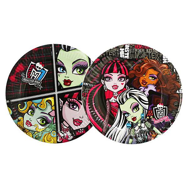 Фотография товара тарелка бумажная, 18см, 10шт, Monster High (3536302)
