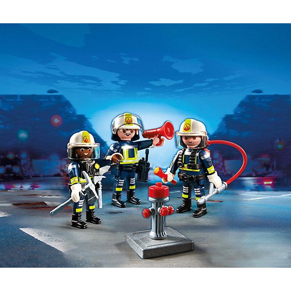 Команда пожарников, PLAYMOBILПластмассовые конструкторы<br>Конструктор PLAYMOBIL (Плеймобил) 5366 Пожарная служба: Команда пожарников - находка для заботливых родителей! Конструктор Вашего ребенка должен быть именно таким: красочным, безопасным и очень интересным. Серия Пожарная служба специально создана для малышей которые не боятся опасности и мечтают помогать другим людям. Пожарные - самая отважная профессия! Настоящий пожарный должен быть смелым, сильным и очень ловким. В наборе Команда пожарников ребенок найдет фигурки трех пожарных, одетых в специальную форму, каски и перчатки. С помощью огнетушителя пожарные могут ликвидировать небольшие возгорания, а если пожар большой, можно воспользоваться пожарным гидрантом. Пожарные обязательно проверяют горящее здание и выводят из него людей. Для этого у отважной команды есть фонарик и топорик, чтобы проложить себе путь между обломками здания. Ну а когда операция по спасению благополучно закончена нужно сообщить о проделанной работе по рации. Создай интересные сюжеты с набором Команда пожарников или объедини его с другими наборами серии и игра станет еще интереснее. Придумывая замечательные сюжеты с деталями конструктора, Ваш ребенок развивает фантазию, учится заботе и просто прекрасно проводит время!<br><br>Дополнительная информация:<br><br>- Конструкторы PLAYMOBIL (Плеймобил) отлично развивают мелкую моторику, фантазию и воображение;<br>- В наборе: 3 минифигурки, огнетушитель, брандспойт, кирка, топорик, фонарик, громкоговоритель, рация;<br>- Количество деталей: 31 шт;<br>- Материал: безопасный пластик;<br>- Размер минифигурок: 7,5 см;<br>- Размер упаковки: 15 х 15 х 5,2 см;<br>- Вес: 118 г<br><br>Конструктор PLAYMOBIL (Плеймобил) 5366 Пожарная служба: Команда пожарников можно купить в нашем интернет-магазине.<br>Ширина мм: 151; Глубина мм: 154; Высота мм: 55; Вес г: 127; Возраст от месяцев: 60; Возраст до месяцев: 120; Пол: Мужской; Возраст: Детский; SKU: 3536839;