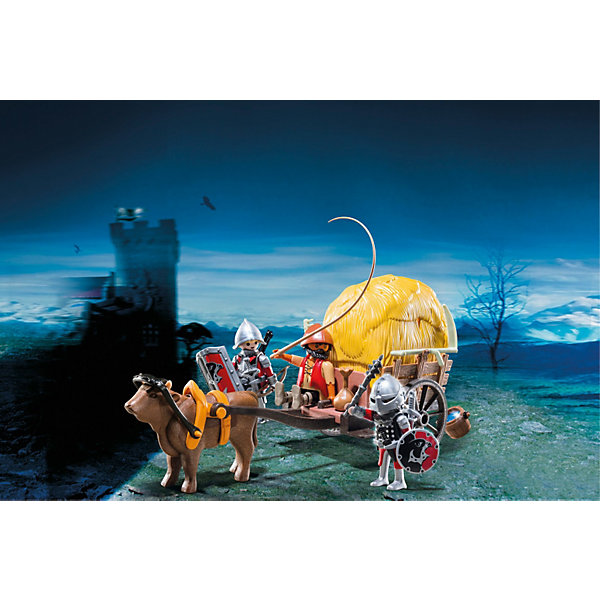 PLAYMOBIL® PLAYMOBIL 6005 Рыцари: Рыцари Сокола с камуфляжной повозкой конструктор игровой playmobil 6002 рыцари замок рыцарей волка