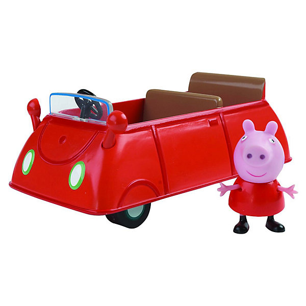 Росмэн Игровой набор Машина Пеппы, Свинка Пеппа игровой набор peppa pig пеппа в автомобиле
