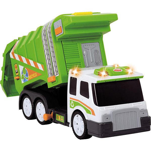 Dickie Toys Мусоровоз со светом, звуком и свободным ходом, 39 см, Dickie Toys машинка dickie эвакуатор со светом и звуком 15 см