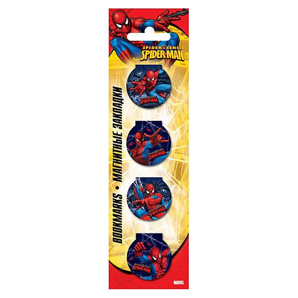 Закладки магнитные, Человек-ПаукЧеловек-Паук<br>Магнитная закладка Spider Man (Человек-паук) – это закладка, которая не выпадает, не мнет страницы книг и не вытаскивается в самый неподходящий момент. <br>Магнитная закладка надежно фиксируется на нужной странице с помощью винилового магнита, который размещается на внутренней стороне. <br>Это актуальный и практичный аксессуар для каждого любителя чтения.<br><br>Дополнительная информация:<br><br>- размер: 10 см.<br>- в наборе 6 штук.<br><br>Магнитную закладку Spider Man можно купить в нашем магазине.<br>Ширина мм: 200; Глубина мм: 160; Высота мм: 10; Вес г: 100; Возраст от месяцев: 48; Возраст до месяцев: 84; Пол: Мужской; Возраст: Детский; SKU: 3563012;