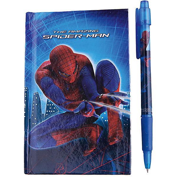 Академия групп Набор в подарочной коробке: ноутбук, ручка, Человек-Паук набор канцелярский spider man classic 5 предметов smcb us1 360