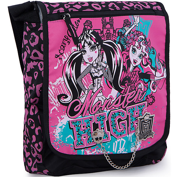 Сумка, Monster HighШкольные сумки<br>Стильная и практичная сумка Monster High (Школа Монстров) идеально подойдет как для дошкольниц, так и для девочек постарше, с ней удобно путешествовать и отправляться на длительные прогулки. В симпатичную сумку можно положить все самое необходимое, внутри одно вместительное отделение и карман на молнии. Кроме того дополнительно имеется большой карман на молнии на лицевой стороне и большой карман на липучке на тыльной стороне сумки. Сумка закрывается на клапан с застежкой липучка.<br><br>Плечевой ремешок регулируется по размеру. Сумка выполнена в розово-черная расцветке с изображением героинь популярного мультсериала Школа монстров.<br><br>Дополнительная информация:<br><br>- Материал: текстиль.<br>- Размер: 33 х 26 х 9 см.<br><br>Сумку Monster High можно купить в нашем интернет-магазине.<br>Ширина мм: 330; Глубина мм: 260; Высота мм: 90; Вес г: 500; Возраст от месяцев: 120; Возраст до месяцев: 144; Пол: Женский; Возраст: Детский; SKU: 3563323;