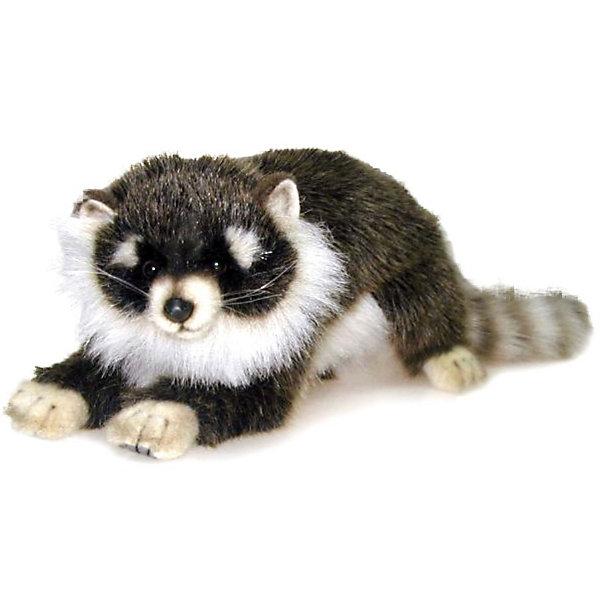 Купить Мягкая игрушка Hansa Лесные животные Енотик лежащий, 34 см, Филиппины, Унисекс