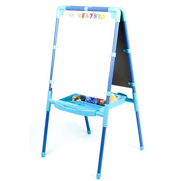 Nika-Kids Двусторонний голубой мольберт с пеналом и азбукой