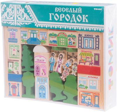 Томик Конструктор Веселый городок, 56 деталей, Томик томик конструктор веселый городок 56 деталей томик