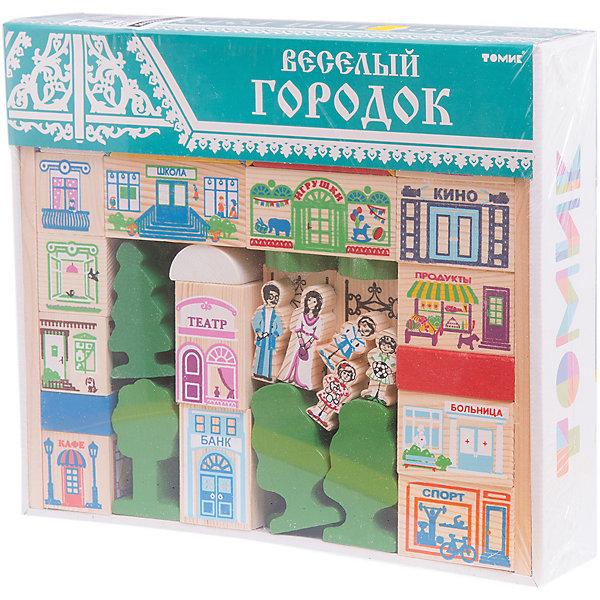 Томик Конструктор Веселый городок, 56 деталей,