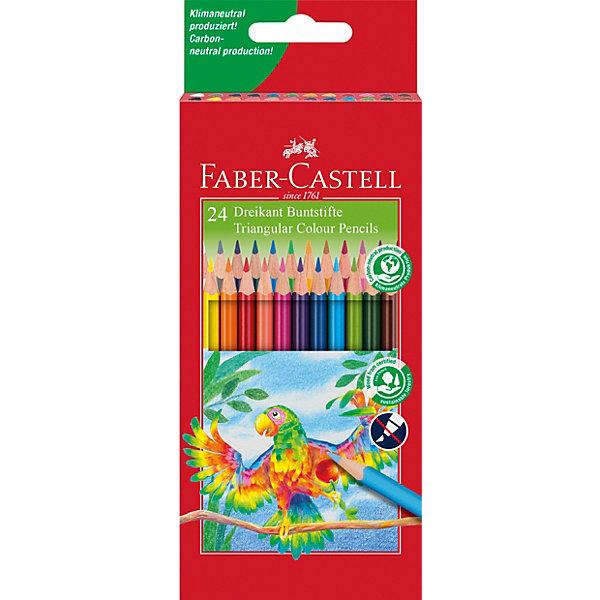 Faber-Castell Цветные карандаши Faber-Castell, 24 цвета карандаши цветные krasin веселый кролик 24 шт