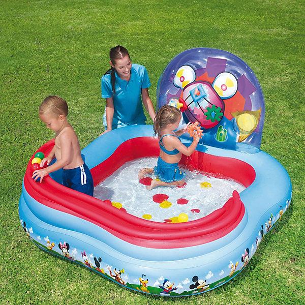 Фотография товара детский игровой бассейн с кольцами и шариками для игры, Микки Маус, Bestway (3618786)