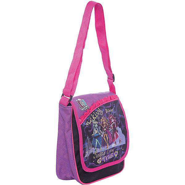 Сумочка, Monster HighАксессуары<br>Сумка-, Мonster High (Монстр Хай) – это стильный аксессуар для юной поклонницы мультсериала «Школа монстров».<br>Сумка, Мonster High подойдет для прогулок и встреч с друзьями. Застегивается сумка на застежку-молнию и клапан на липучке. У сумки одно большое отделение, задний карман и внутренний карман на молнии, регулируемая лямка.<br><br>Дополнительная информация:<br>- Размер: 24 х 21 х 16 см;<br>- Ткань: сатин 300 ден;<br>- Цвет: черный;<br>- Отделка: розовый кант, атласная розовая лента, фиолетовые вставки, вышивка золотым люрексом.<br><br>Сумку, Мonster High (Монстр Хай) можно купить в нашем интернет-магазине.<br>Ширина мм: 240; Глубина мм: 210; Высота мм: 160; Вес г: 300; Возраст от месяцев: 36; Возраст до месяцев: 156; Пол: Женский; Возраст: Детский; SKU: 3622552;