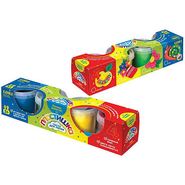 LORI Набор теста для лепки №4, 4 цвета, LORI всё для лепки 1 toy студио набор теста для лепки тосты 4 цвета