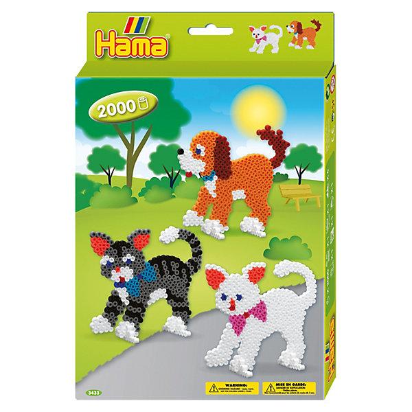 Hama Термомозаика Hama Perlen Собака и Кошка + 2 основы, 2000 бусин термомозаика собака 2456256
