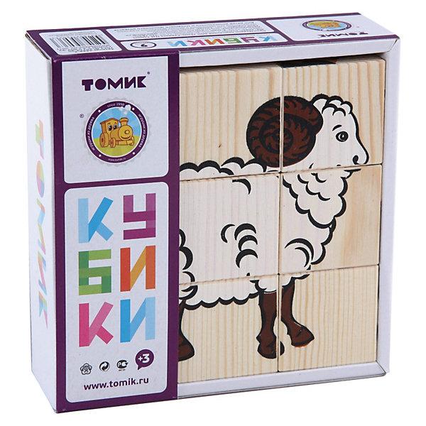 Томик Кубики Домашние животные, 9 штук,