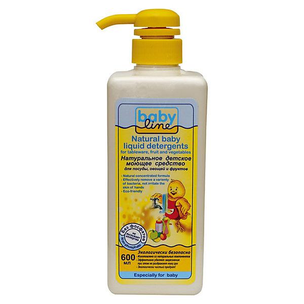 Фото - Babyline Натуральное детское моющее средство для посуды, Babyline, 600 мл babyline натуральное детское моющее средство для мытья детских ванн и горшков 500 мл