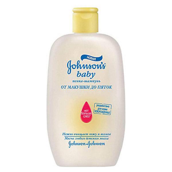 Johnson`s baby Пенка-шампунь От макушки до пяток, Johnson`s baby, 300 мл детская косметика johnson s baby отзывы