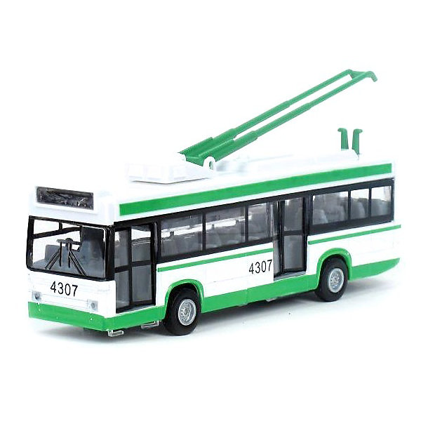 цена на ТЕХНОПАРК Троллейбус, со светом и звуком, ТЕХНОПАРК, в ассортименте