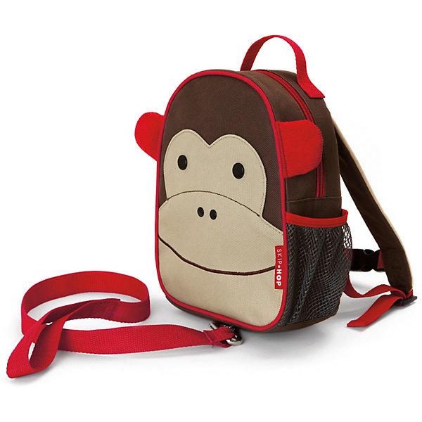 Рюкзак детский с поводком Обезьяна, Skip HopДетские рюкзаки<br>Характеристики товара:<br><br>• возраст от 11 месяцев;<br>• материал: полиэстер;<br>• бирочка для имени<br>• ремешок безопасности регулируется<br>• размер рюкзака 23х19х8,5 см;<br>• страна производитель: Китай.<br><br>Рюкзак детский с поводком «Обезьяна» Skip Hop выполнен в виде забавной обезьянки с глазками и ушками. Теперь все необходимые вещи всегда будут под рукой у малыша. Он может брать рюкзачок с собой на прогулку, в гости, в детский садик. Во внутреннем отделении поместятся любимые игрушки, карандаши, раскраски, блокноты. Сбоку сетчатый кармашек для бутылочки с напитками или контейнера для еды.<br><br>Мягкие лямки обеспечивают комфортное ношение. Предусмотрена небольшая ручка для переноски в руках или подвешивания. Специальный ремешок-поводок разработан для родителей, которые будут контролировать движения малыша, который еще только познает окружающий мир. Рюкзак изготовлен из плотных износостойких материалов.<br><br>Рюкзак детский с поводком «Обезьяна» Skip Hop можно приобрести в нашем интернет-магазине.<br>Ширина мм: 352; Глубина мм: 231; Высота мм: 60; Вес г: 276; Цвет: коричневый; Возраст от месяцев: 24; Возраст до месяцев: 60; Пол: Унисекс; Возраст: Детский; SKU: 3688445;