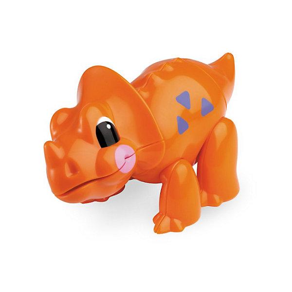 Фигурка Трицератопс, Первые друзья, TOLOИгровые фигурки животных<br>Фигурка Трицератопс, Первые друзья, TOLO (ТОЛО) – эта яркая красочная игрушка привлечет внимание Вашего малыша и не позволит ему скучать.<br>Фигурка Трицератопс из серии Первые друзья, TOLO (ТОЛО) создаст малышам прекрасное настроение и познакомит их с миром доисторических динозавров. Больше всего трицератопс любит лакомиться доисторическими цветами. С веселым пощелкиванием у фигурки поворачиваются голова, хвост. Подвижные лапы позволяют задавать фигурке различные положения. Игрушка способствует развитию координации движений, моторики, распознаванию цветов и звуков, помогает формировать первые навыки сюжетно-ролевой игры. Игрушки Толо производятся из пластика самого высокого качества и гипоаллергенных красителей. Они абсолютно безопасны для малышей, не бьются, не ломаются, крепкие и прочные.<br><br>Дополнительная информация:<br><br>- Размер: 12 х 5 х 7,5 см.<br>- Материал: высококачественный пластик<br><br>Фигурка Трицератопс, Первые друзья, TOLO (ТОЛО) - обязательно понравится Вашему малышу.<br><br>Фигурку Трицератопс, Первые друзья, TOLO (ТОЛО) можно купить в нашем интернет-магазине.<br>Ширина мм: 120; Глубина мм: 50; Высота мм: 80; Вес г: 72; Возраст от месяцев: 12; Возраст до месяцев: 60; Пол: Унисекс; Возраст: Детский; SKU: 3689004;